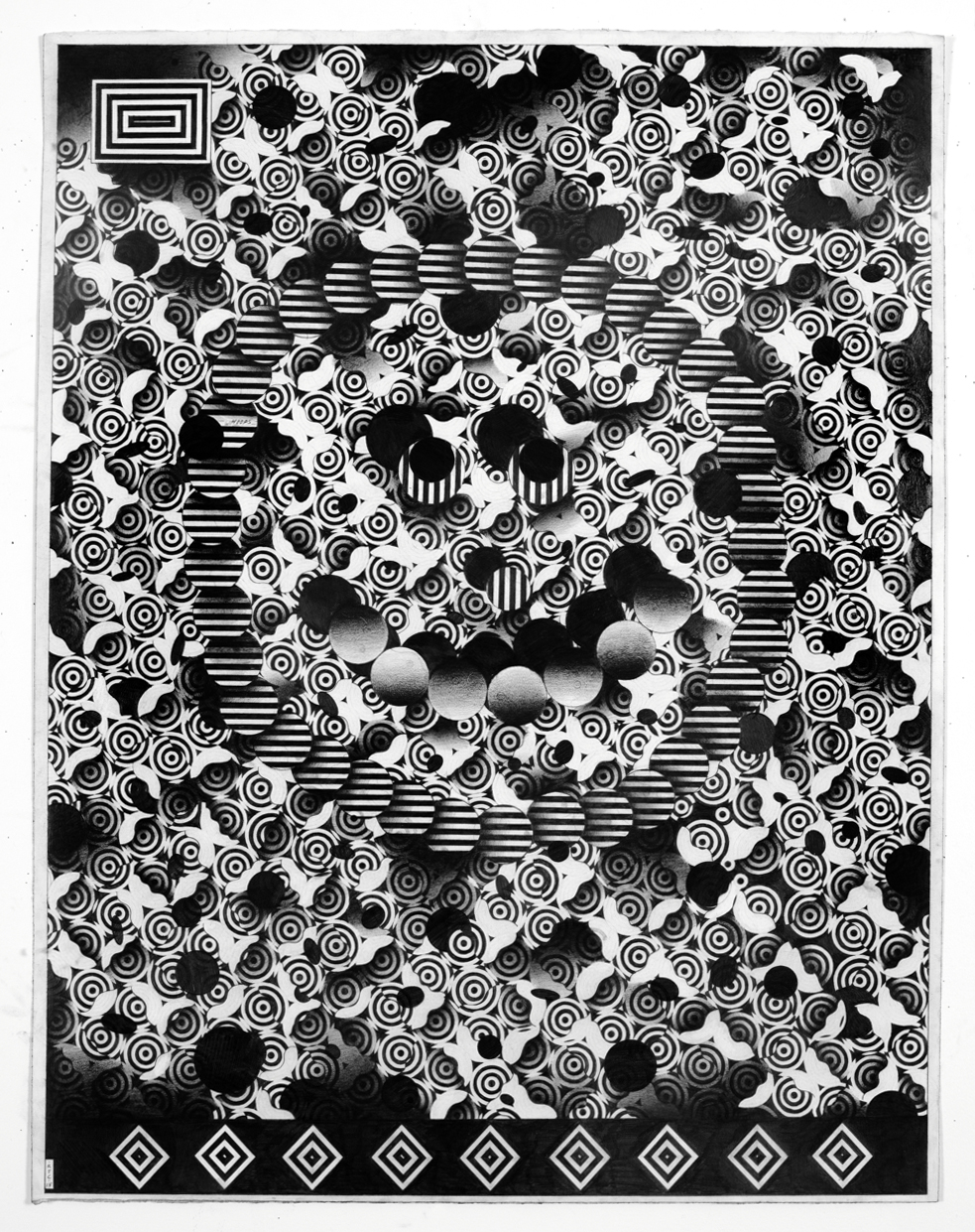 Smile  2013 Graphite on paper 30 x 39 inches