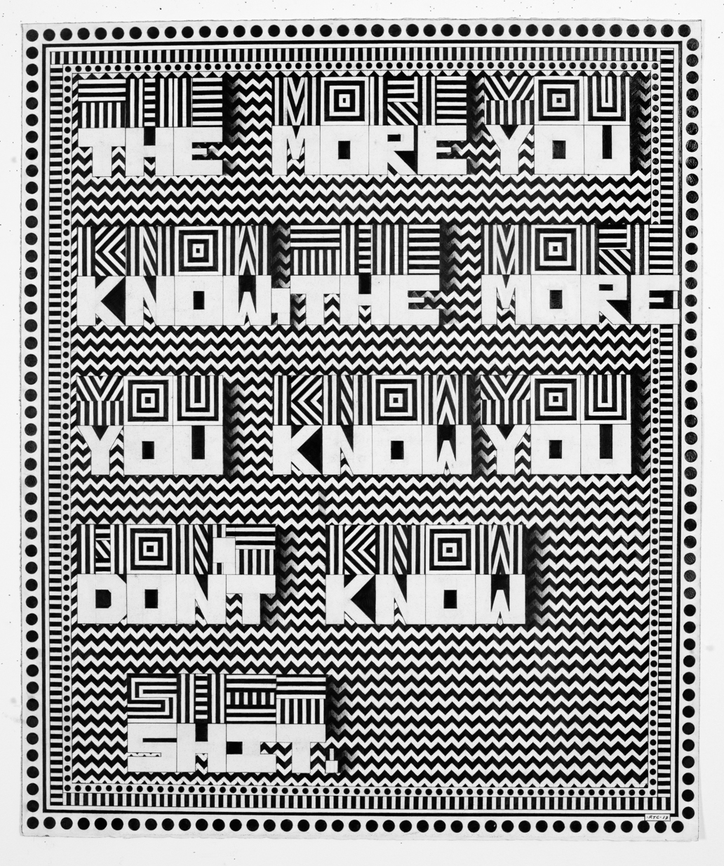 The More U Know  2014 Graphite on paper 30 x 38 inches