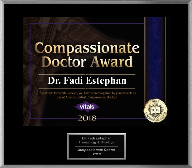 Dr. Estephan most compassionate award.jpg