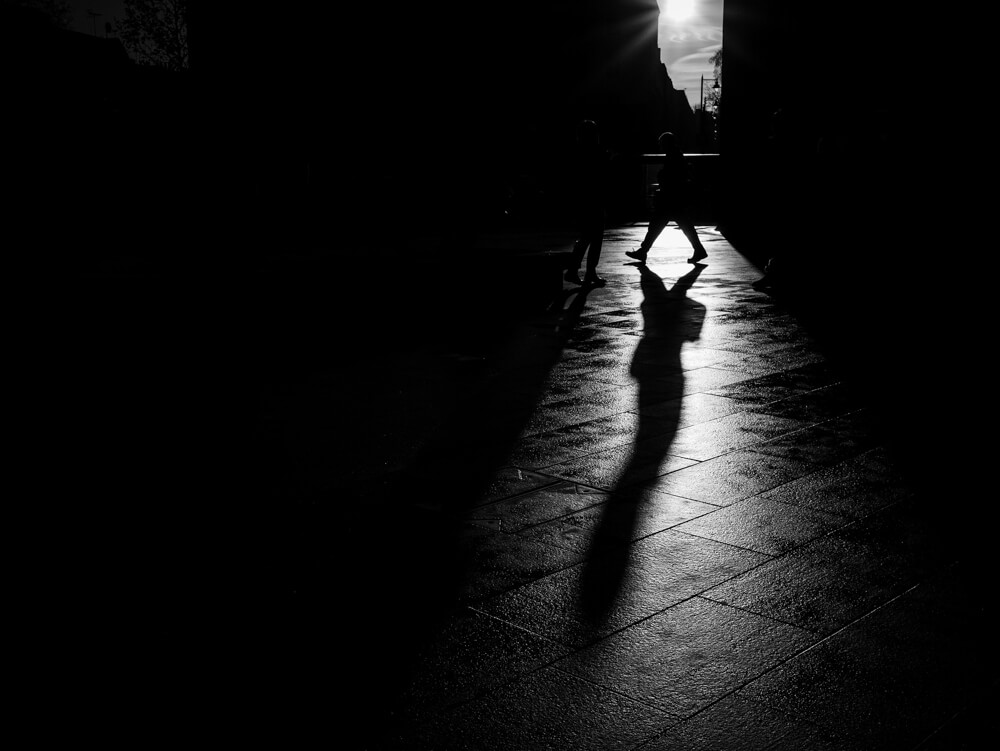 Shadow Walk - A photograph taken at Kings Cross Station in London
