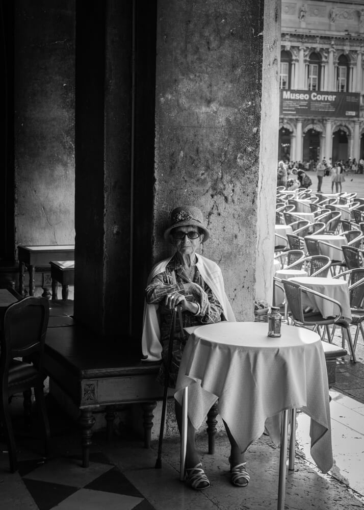 Life is Beautiful - A candid portrait of an old lady taken in Venice. Also exhibited at the RPS Biennial Exhibition 2015