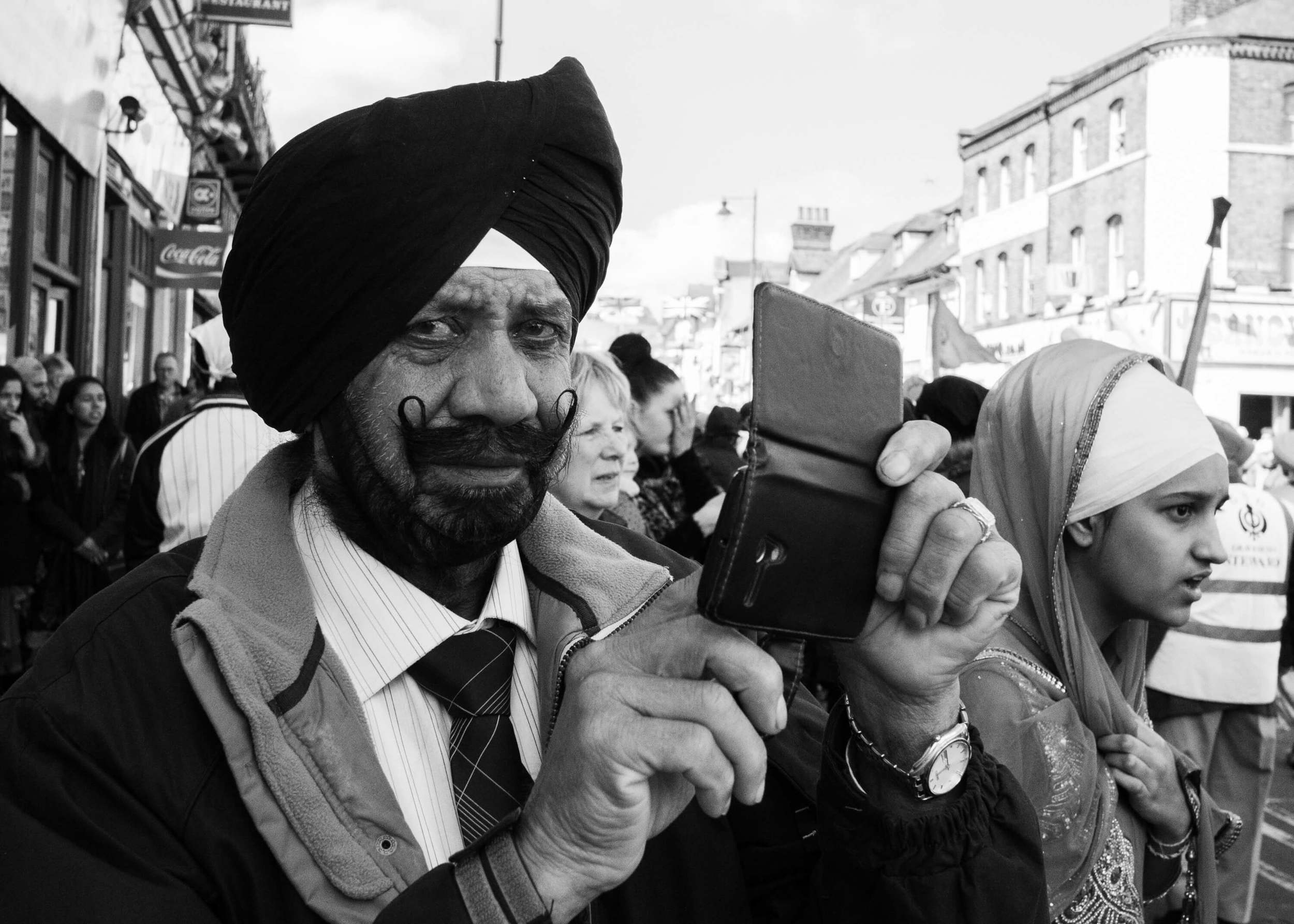 A photograph of a Sikh gentleman taken at a festival in Gravesend, Kent