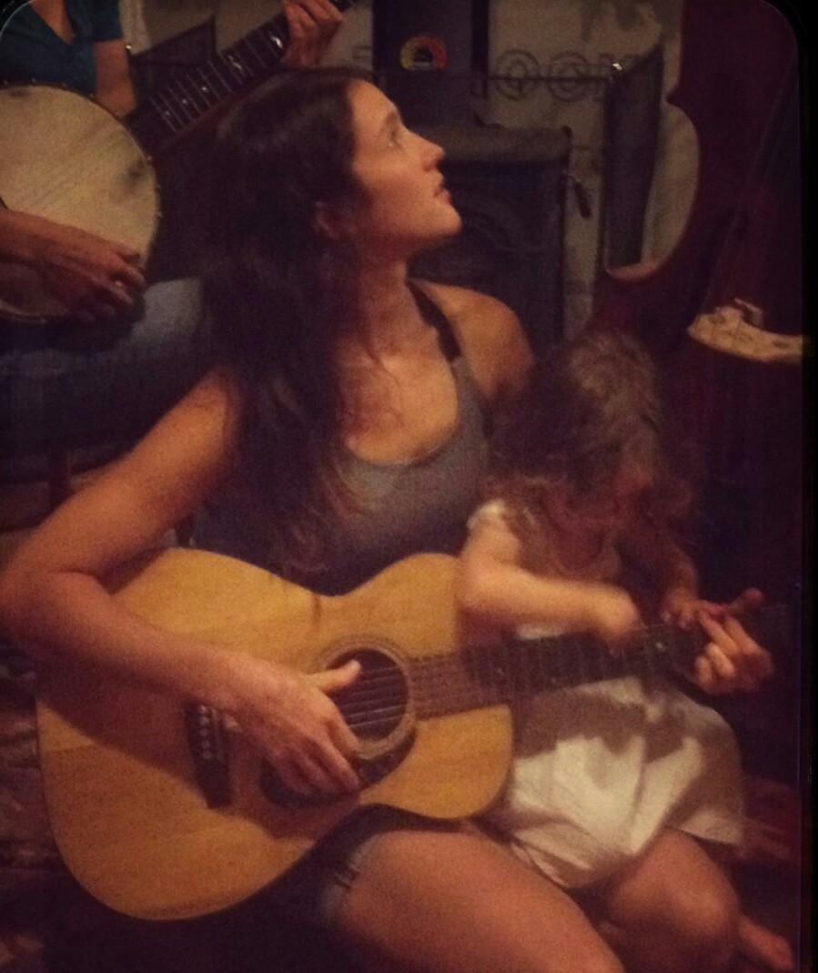 Lauren and Ada, guitar hero