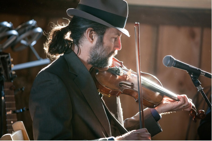 Steve Selin and his fiddle!