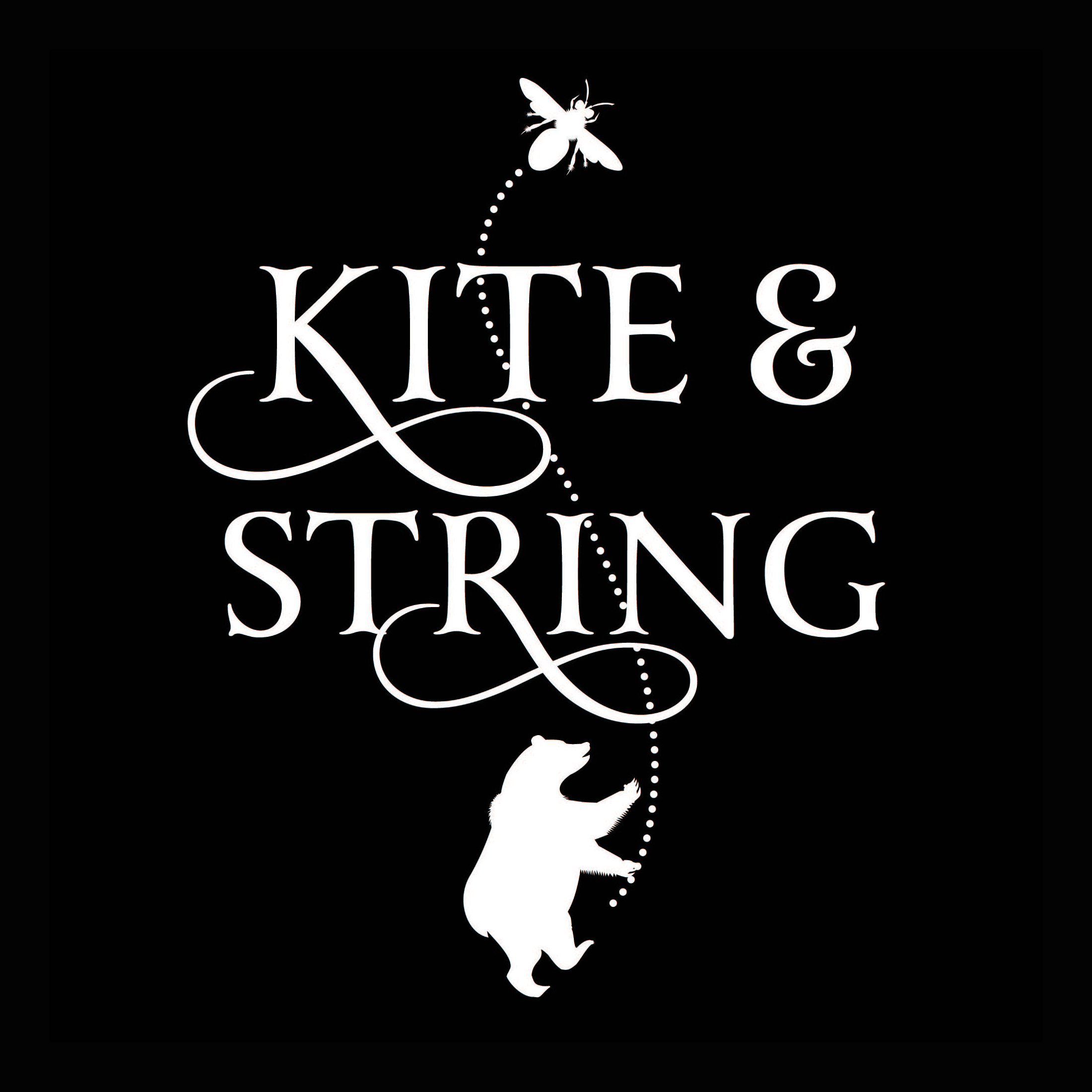 Logo and labels for Kite & String and Finger Lakes Cider House by  Q. Cassetti .