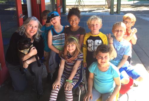 Doggy Lama humane education with Hopalong
