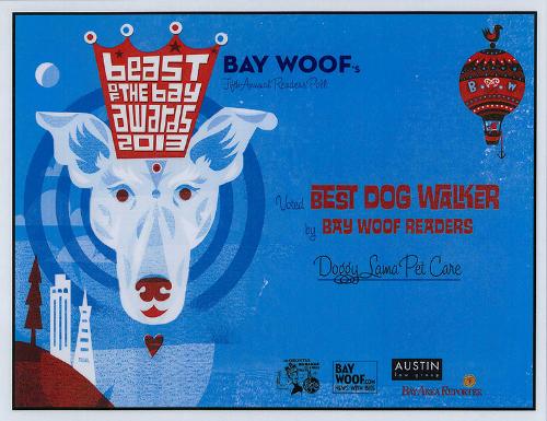 Beast of the Bay Winner Doggy Lama Oakland, Berkeley, Emeryville