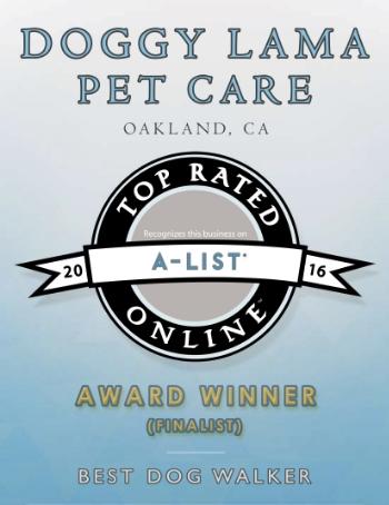 Best Dog Walker 2016 Bay Area A-List