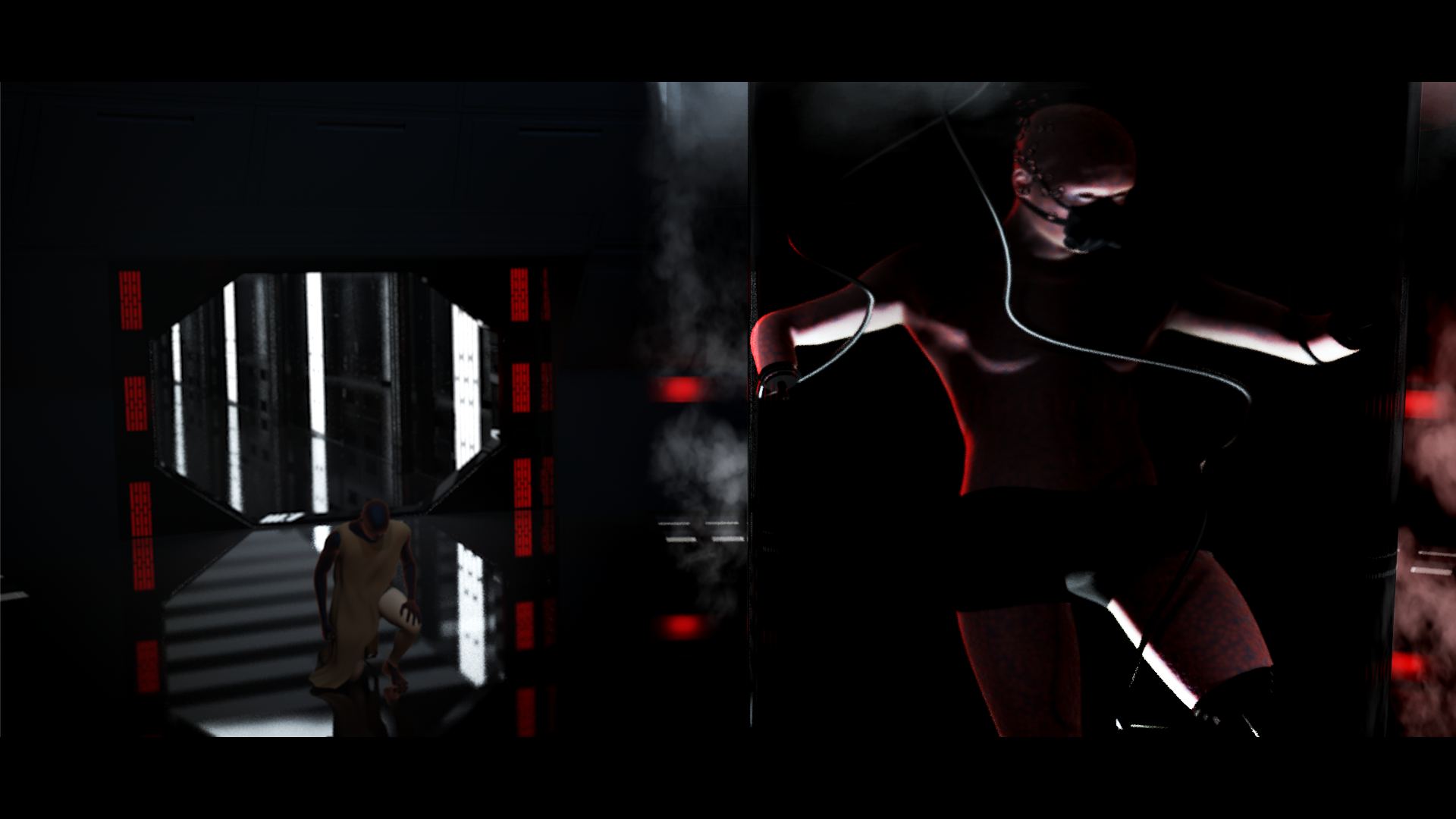 In charge of everything: lighting, texturing, modeling, and compositing. I did not model human figures.
