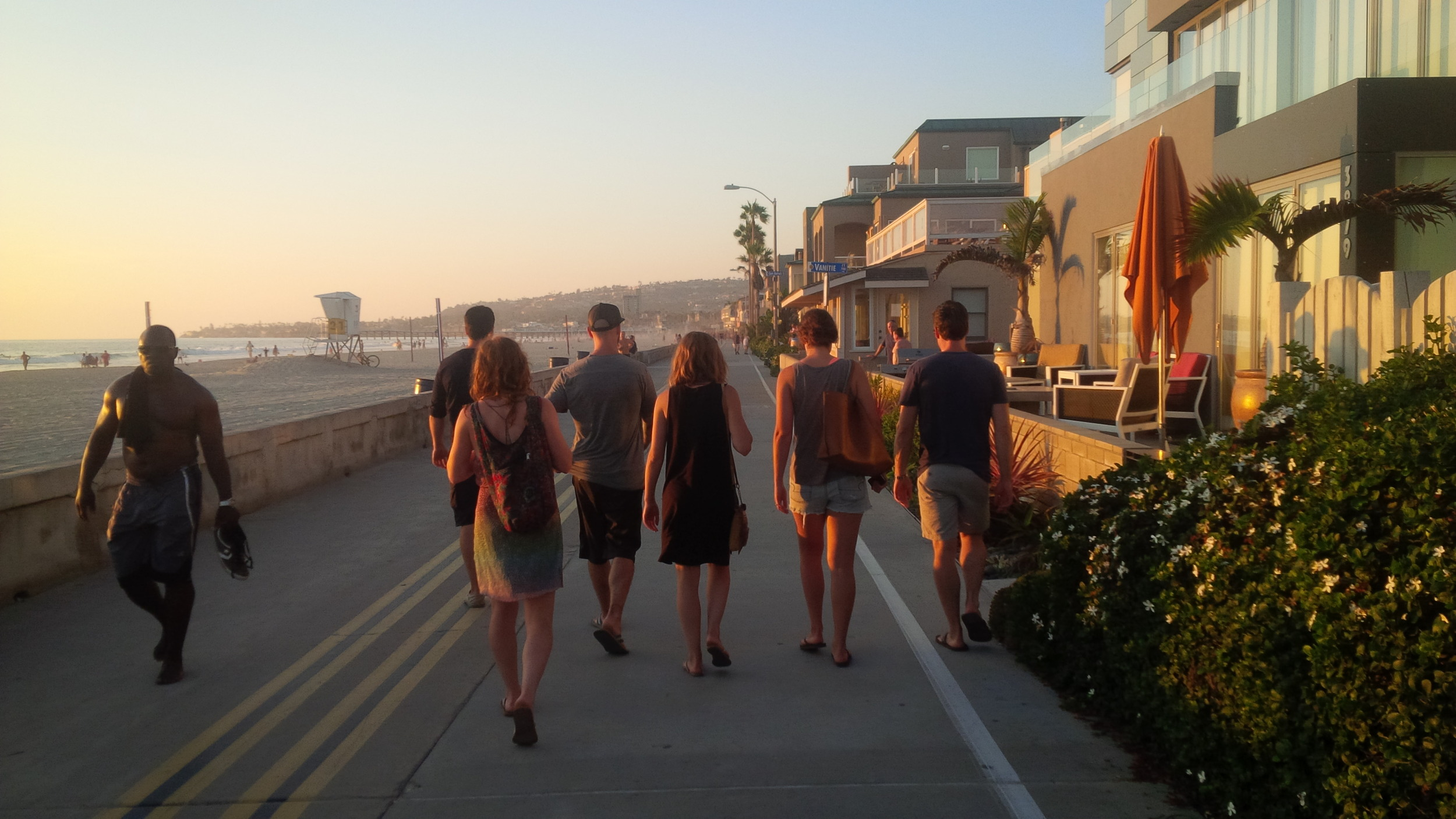 Just taking a stroll down the esplanade in San Diego.