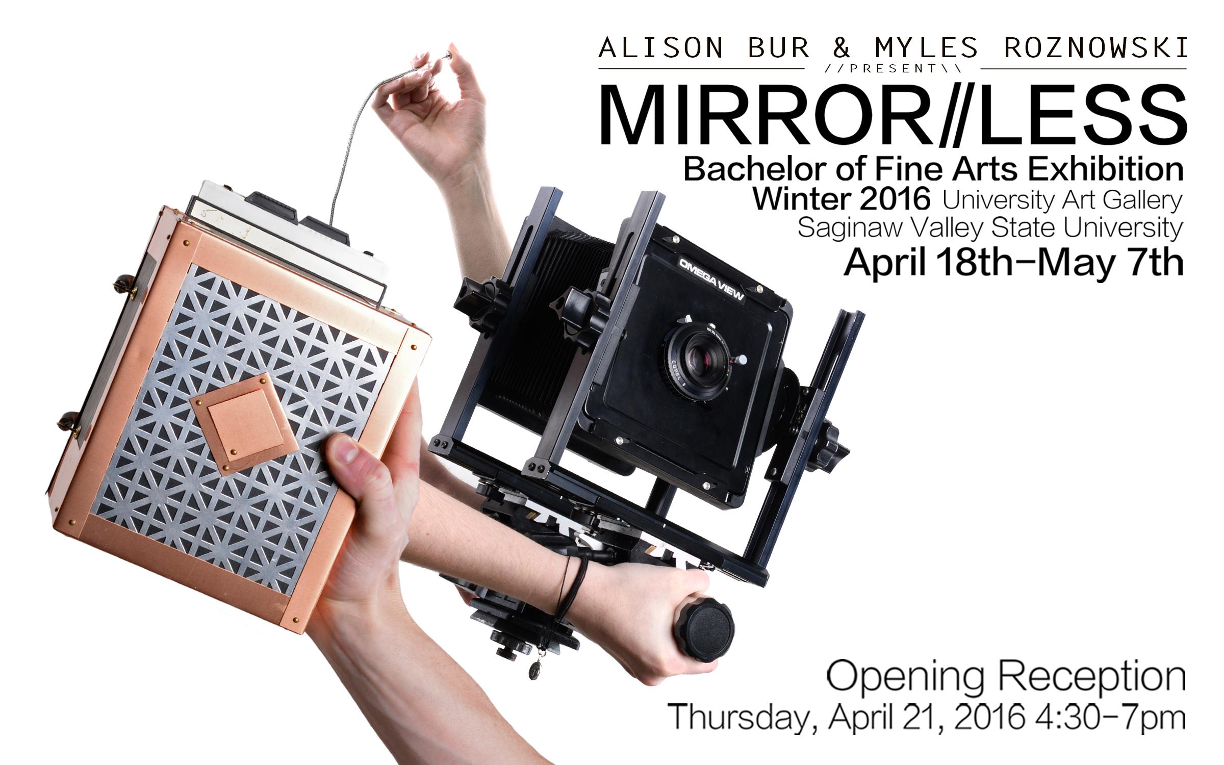 Mirrorless Exhibition Postcard
