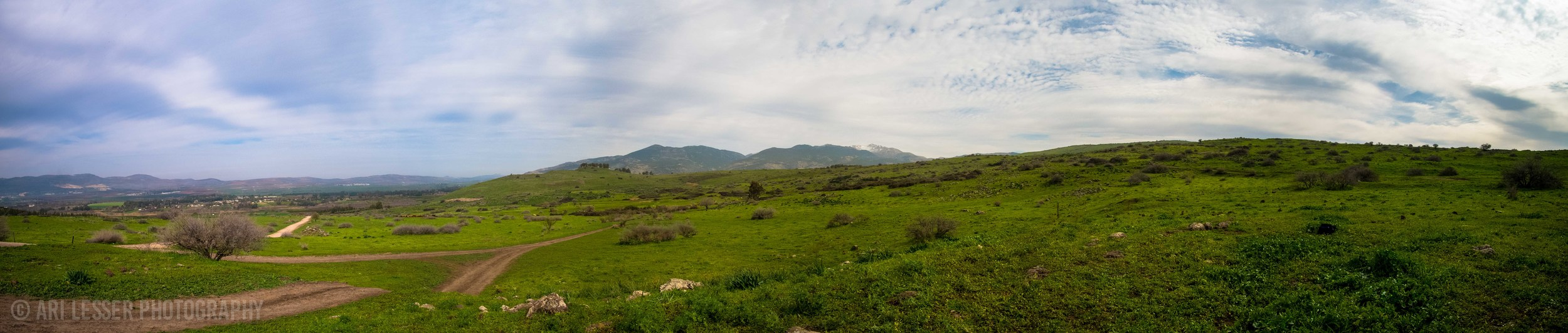 Panoramic shot of the Golan Heights
