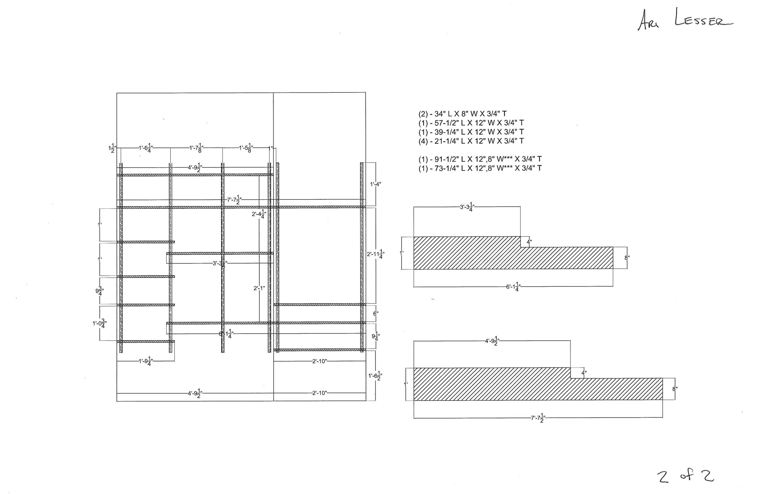 Shelf Final Layout And Dimensions