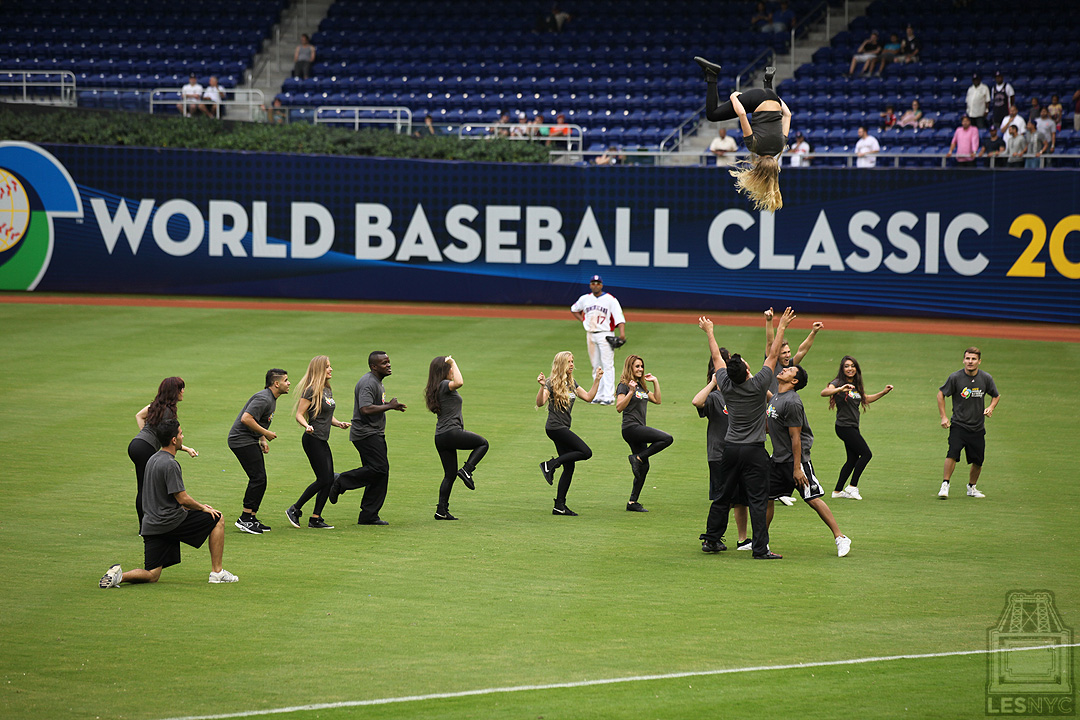 Marlins Park Dancers flipping out