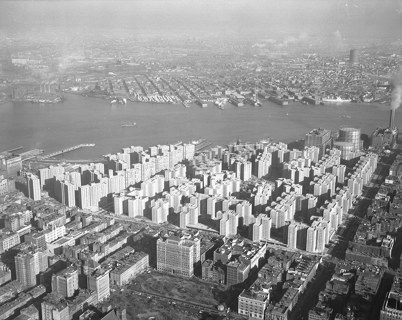 Construction site of Stuyvesant Town and Peter Cooper Village, 1947 - Photo provided by the NY State Archives