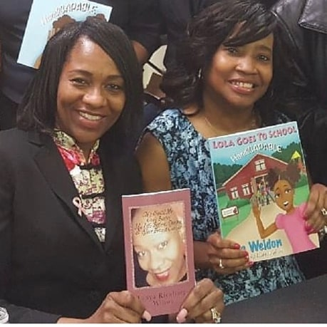 Two Authors on a mission. I am pictured here with an awesome lady Tonya Richburg-Wilson. Her book is a must read. Join us on our journey.