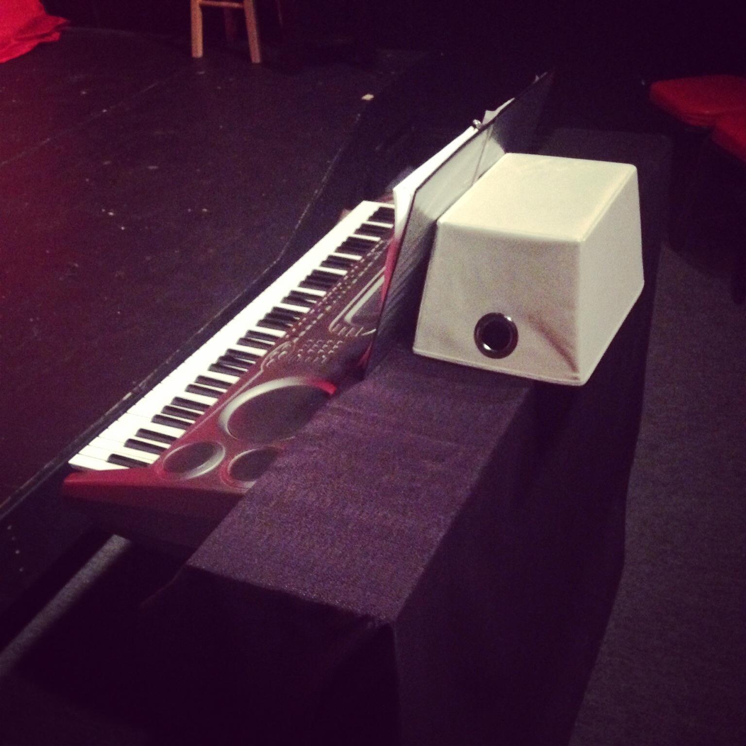 Makeshift music rack