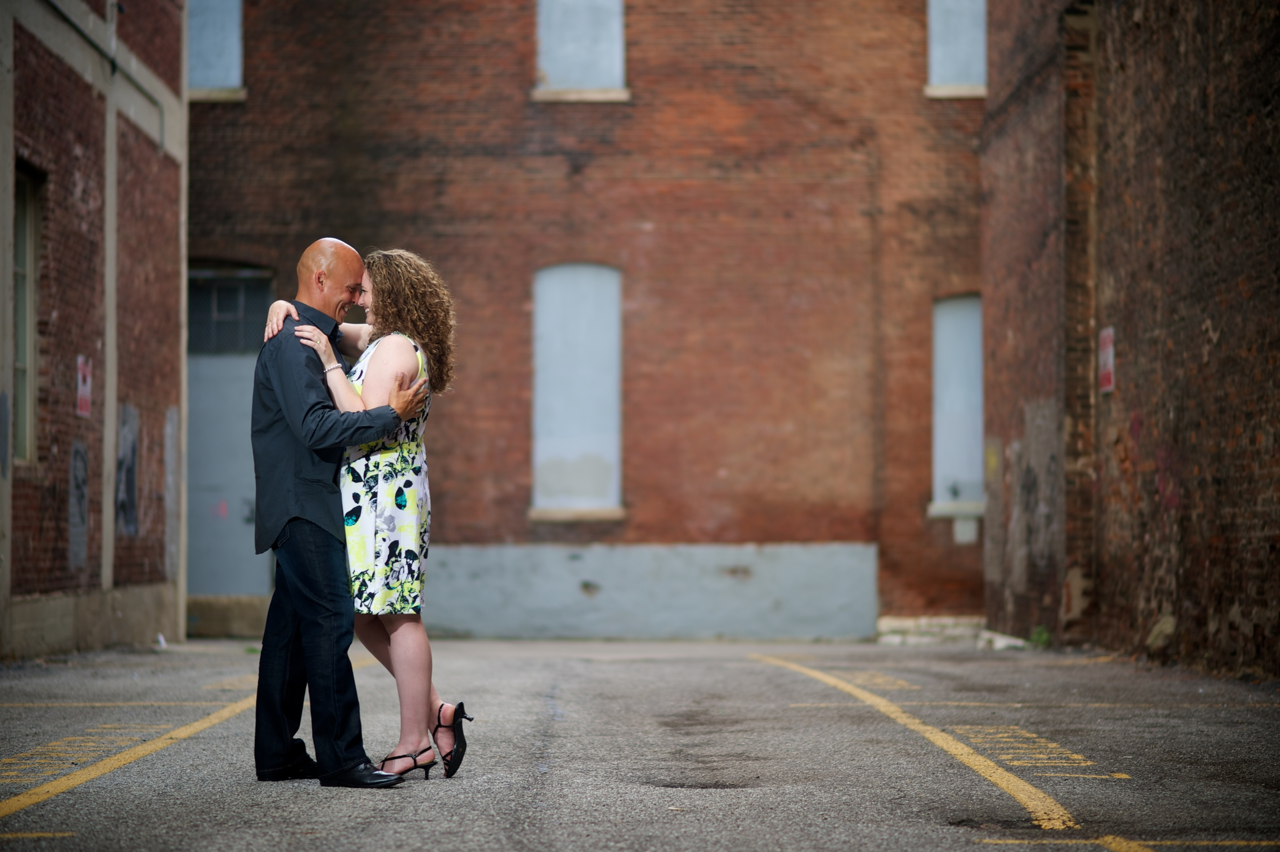Downtown Indianapolis Engagement Shoot