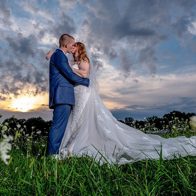 Congratulations Taylor and Alan! #indianapolisweddingphotographer #indianapoliswedding #wedding #brideandgroom #lowlightphotography #sunsetwedding #fujifilm #godox