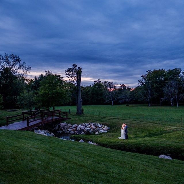 Congratulations Sarah and Casey! #barnwedding #brideamdgroom #fujifilm #godox #indianapolisweddingphotographer #sunsetwedding