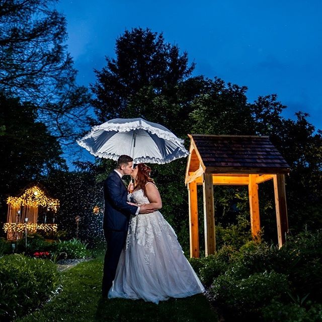 Congratulations Ciara & Elijah! #indianapolisweddingphotographer #weddingphotography #love #rainphotography #fujifilm #xt3 #godoxad200