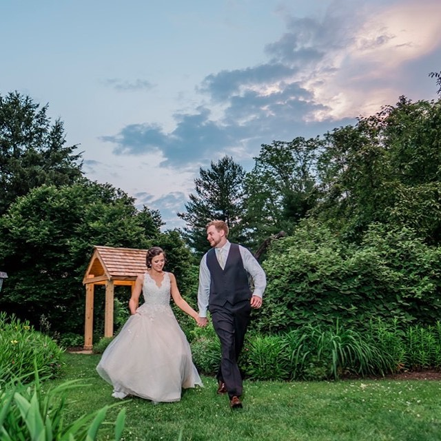 Congratulations Shelby & Eric! #avongardenswedding #weddingphotography #indianapolisweddingphotographer #twilightportrait #sunset #brideandgroom #fearlessphotographer