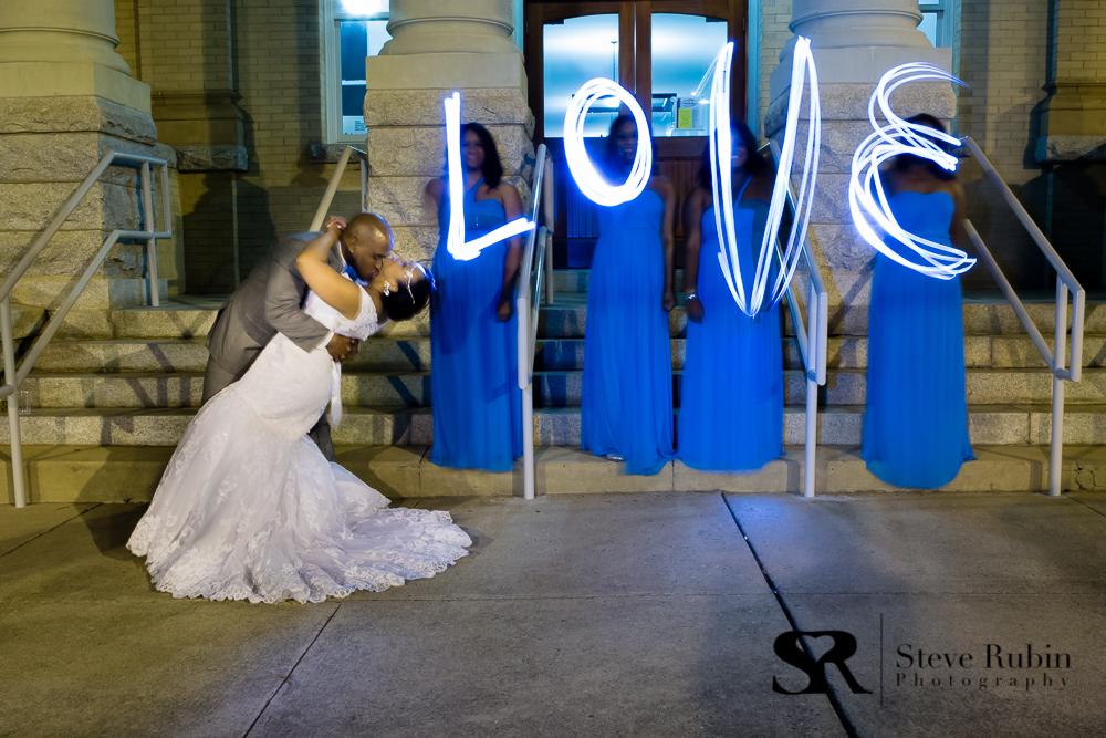 Randolph County Courthouse as a backdrop for Bridal Photos in Asheboro NC