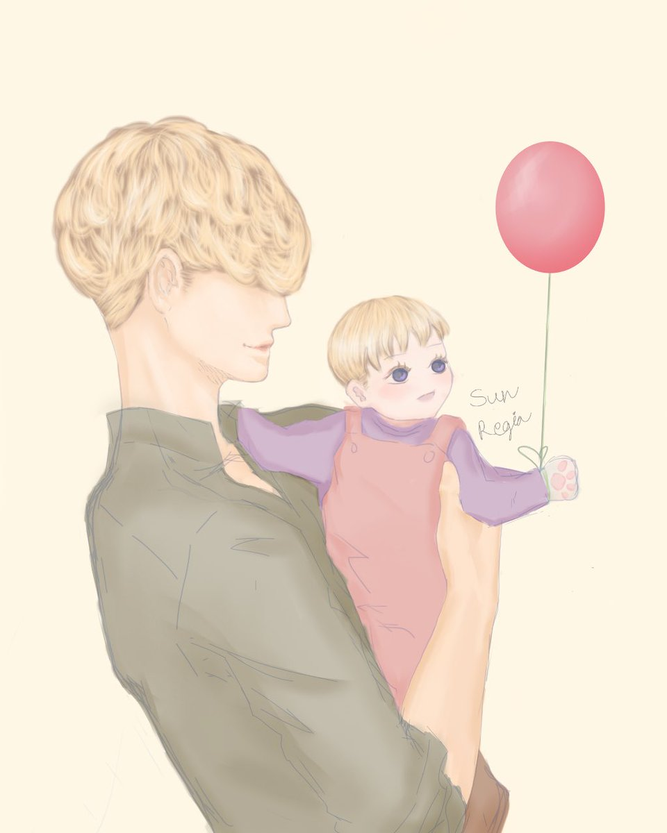 Silas and baby Elish.