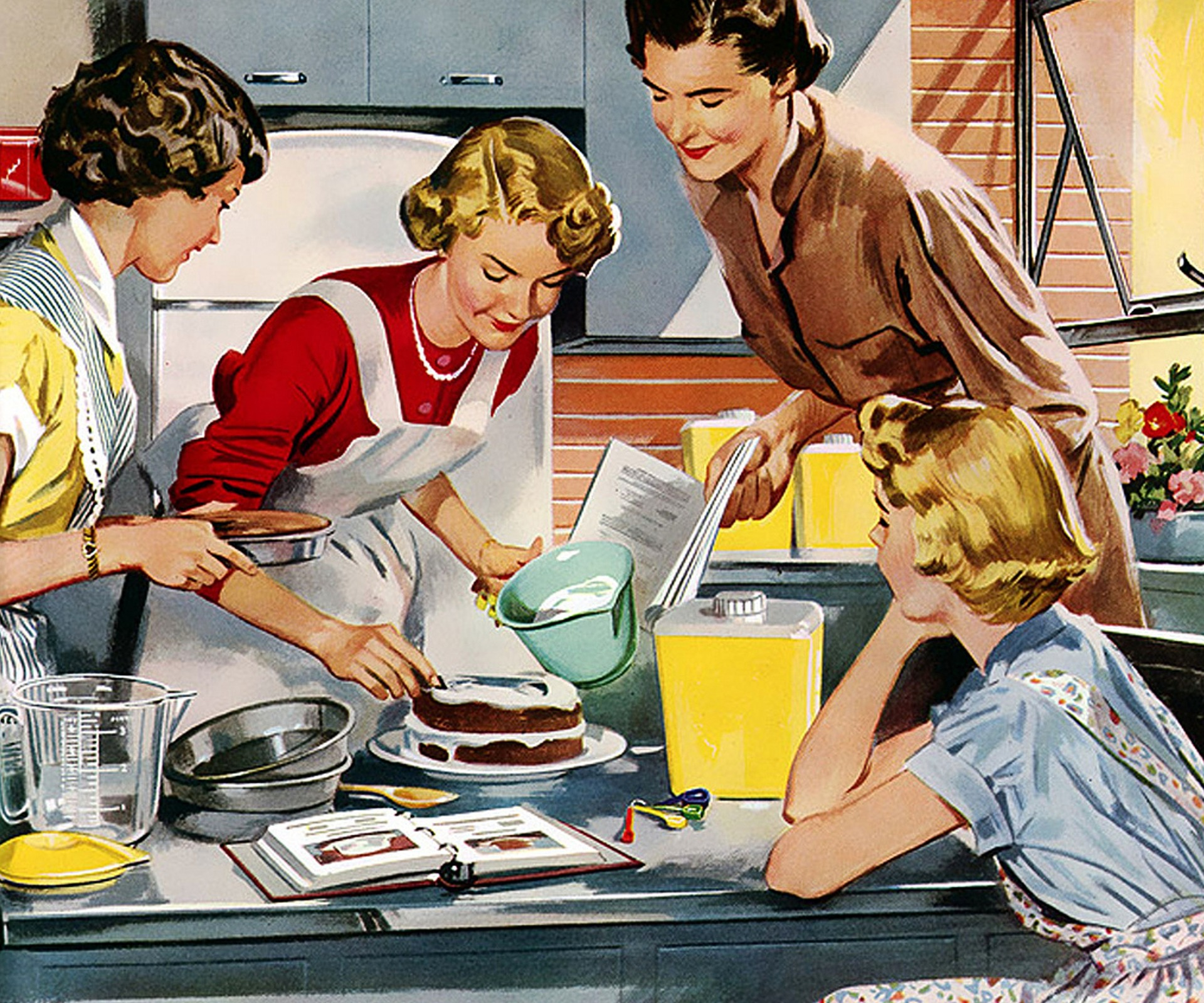 A home cooked meal - a long, long, long, long time ago looked something like this.