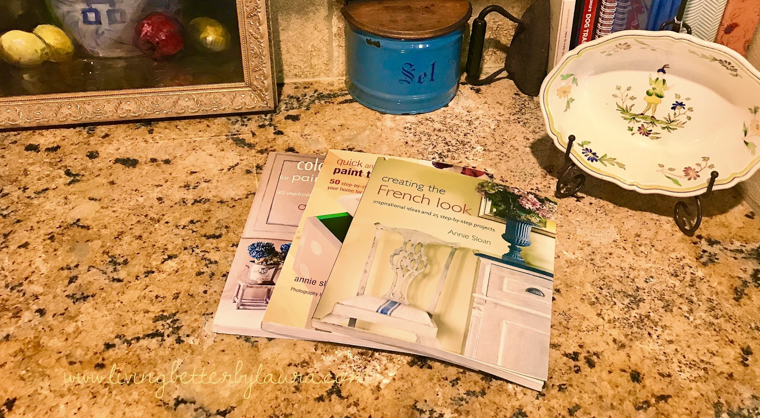 I've used my Annie Sloan books for suggestions, tips and examples for dozens of DIY projects