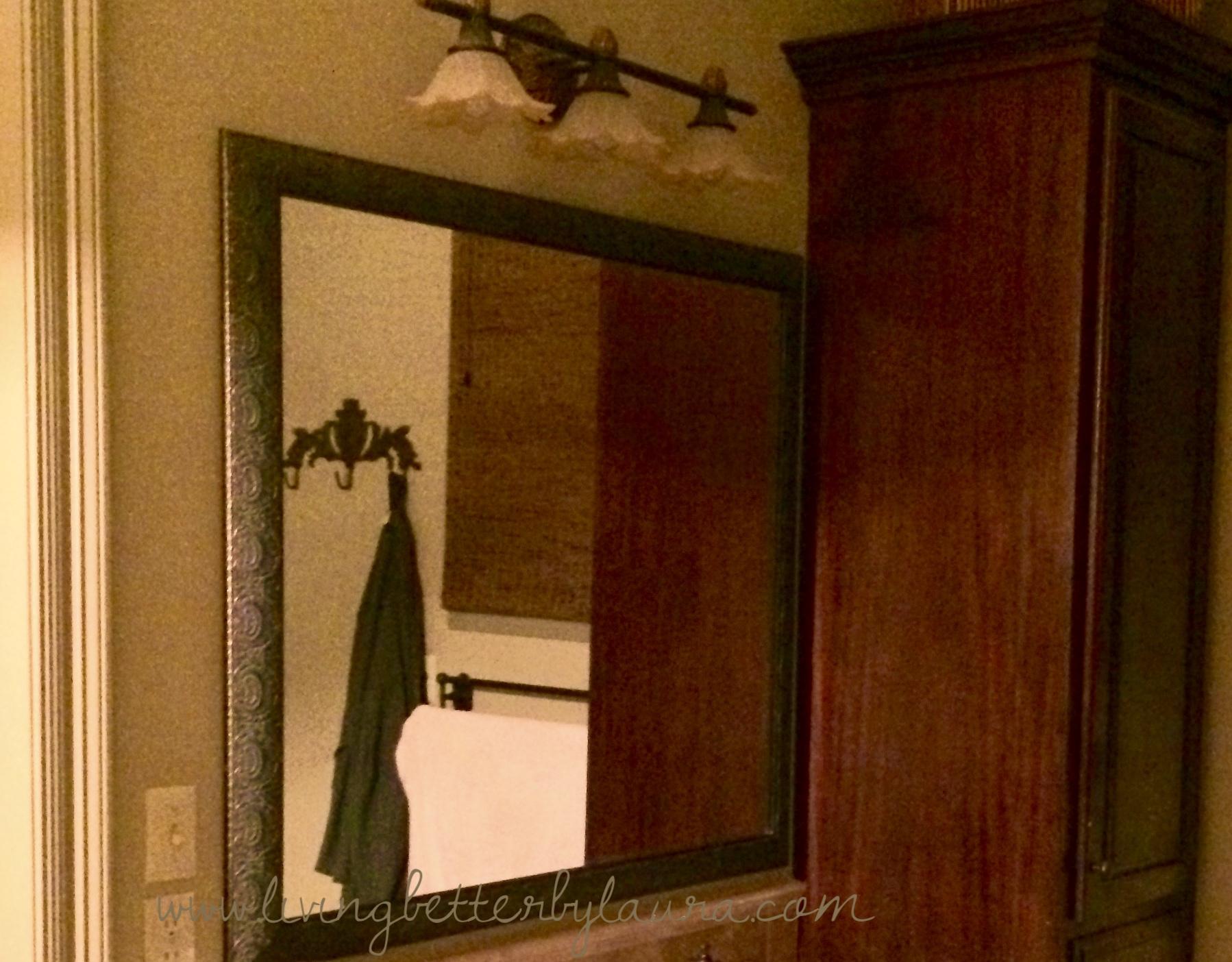 Before: master bath mirror
