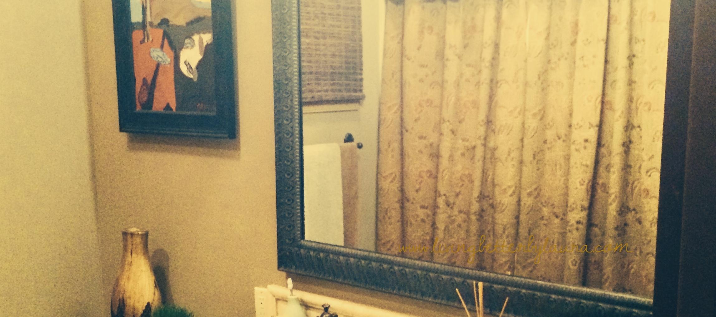 Before: mirror guest bath #1