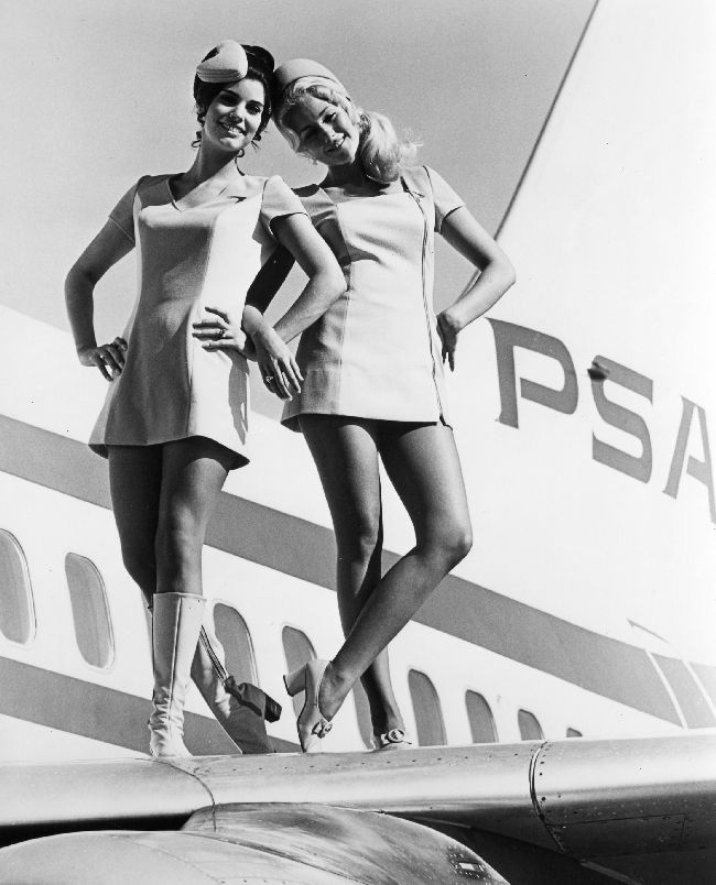 Yes, stewardess were a women only profession. And, yes, they did dress like this.