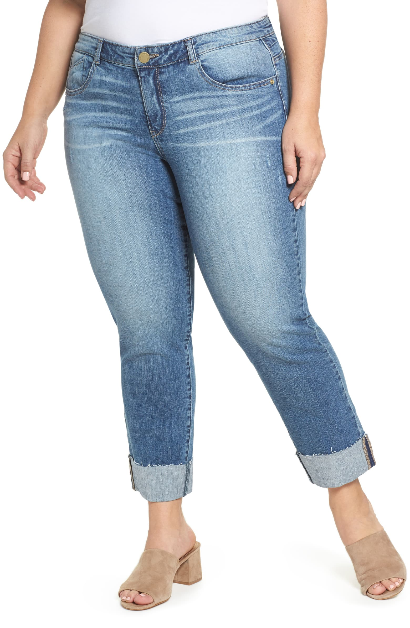 Wit & Wisdom Flex-cellent Boyfriend Jeans   For my curvy friends. These can be found at Nordstrom for $88