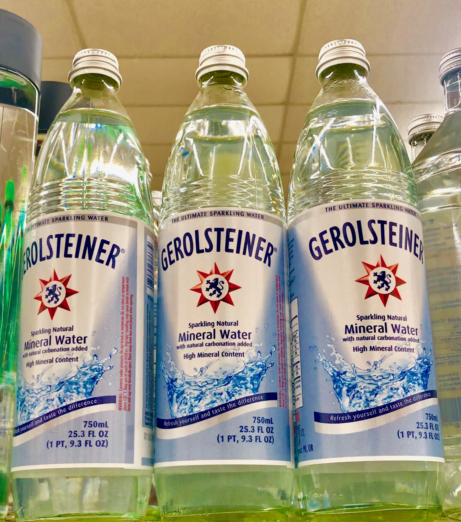 Some bottled waters contain a high mineral content