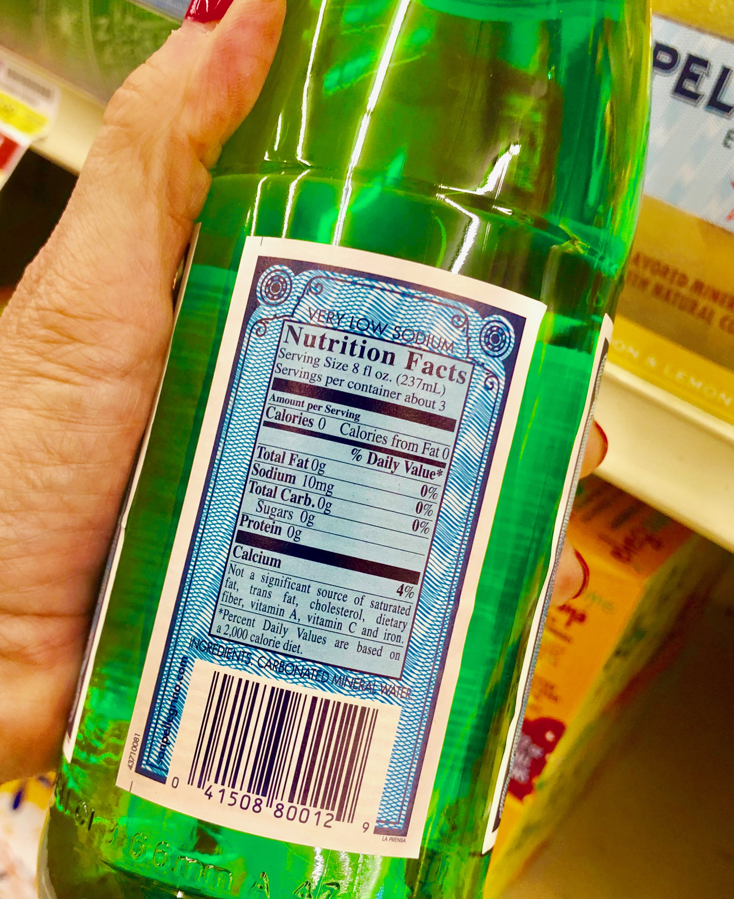 Some bottled waters have a high sodium content. Read the labels thoroughly.
