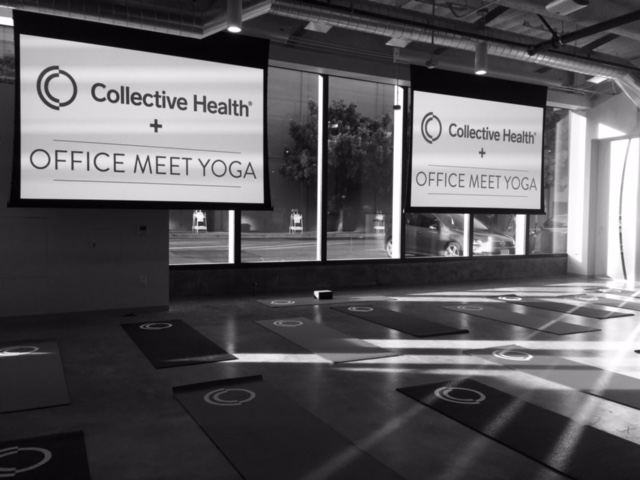 Community Yoga at Collective Health in support of Lyon-Martin Health Services
