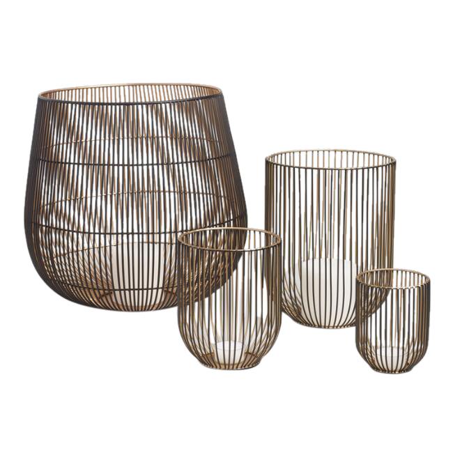 Gold Wire Lanterns (3)