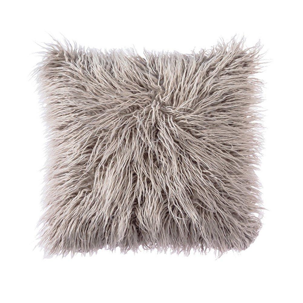 Light Gray Fur Pillow