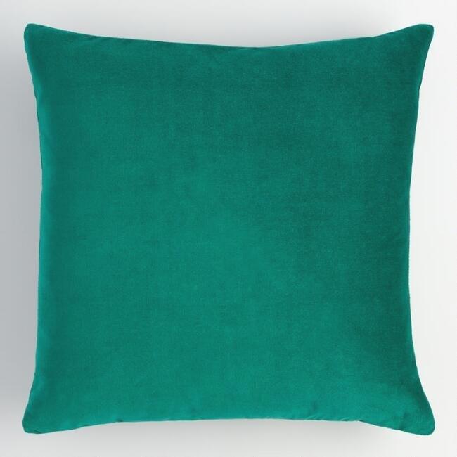 Green Velvet Pillow (2)
