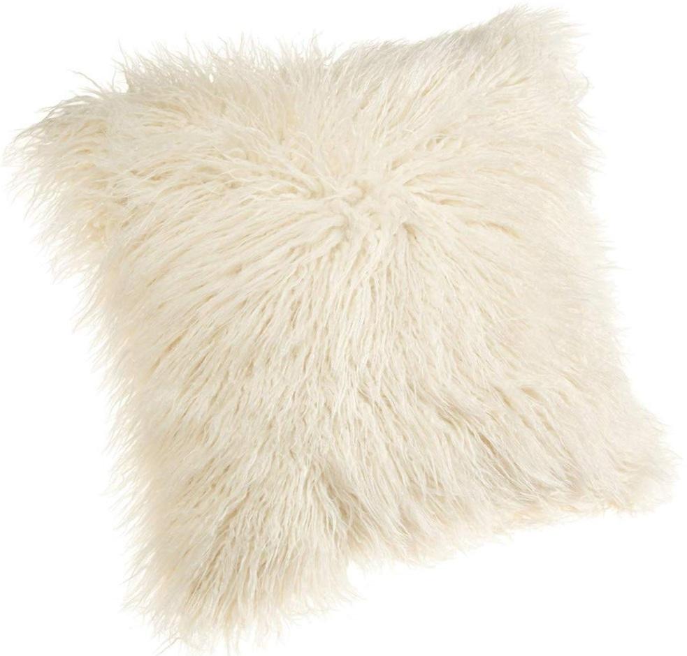 Ivory Fur Pillow