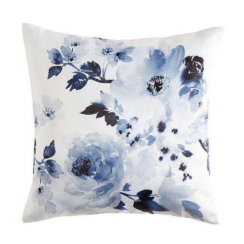 Watercolor Blue Pillow