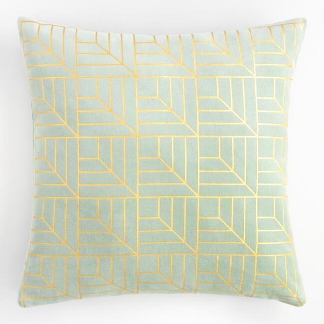 Jade Geometric Pillow