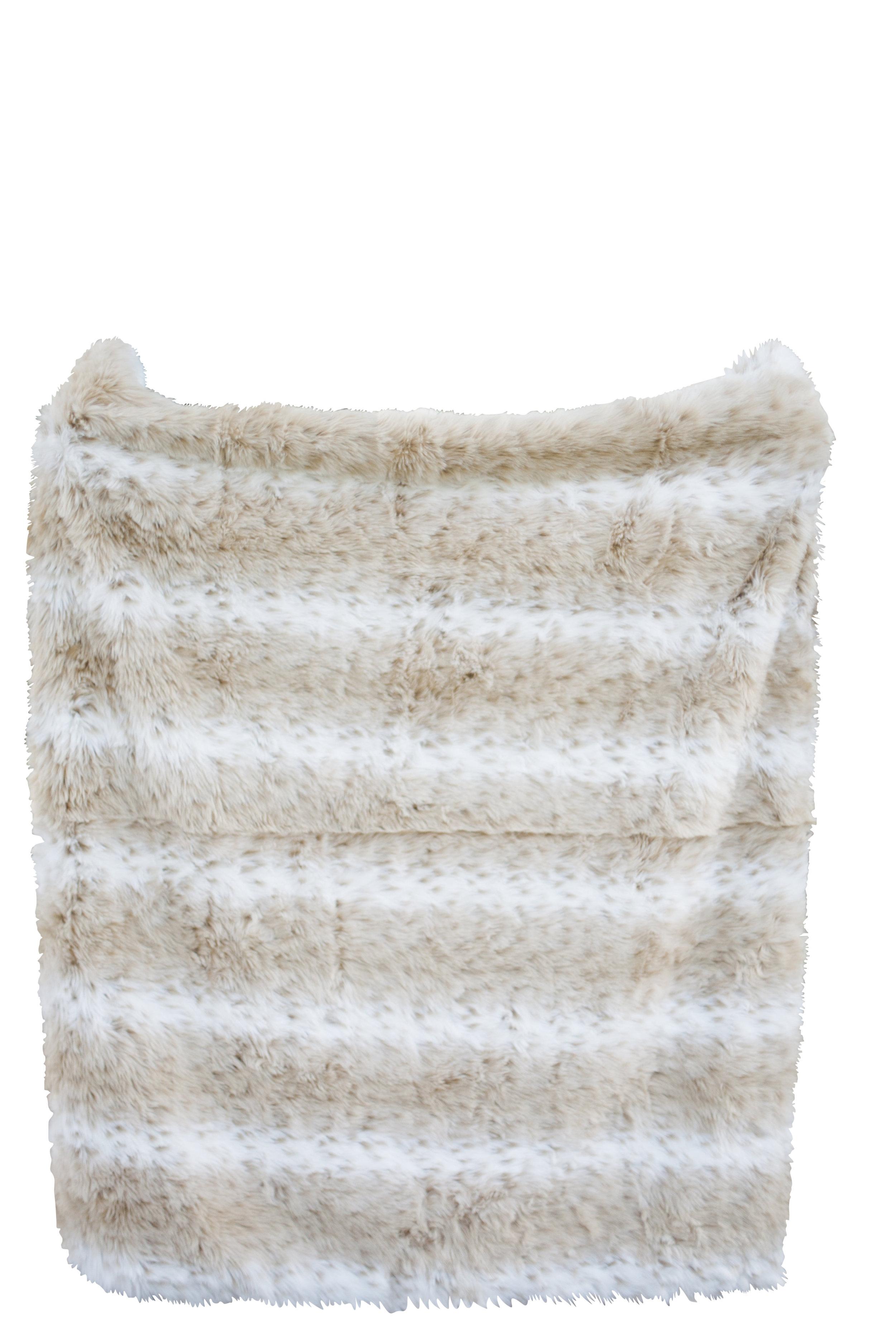 Light Faux Fur Throw Blanket