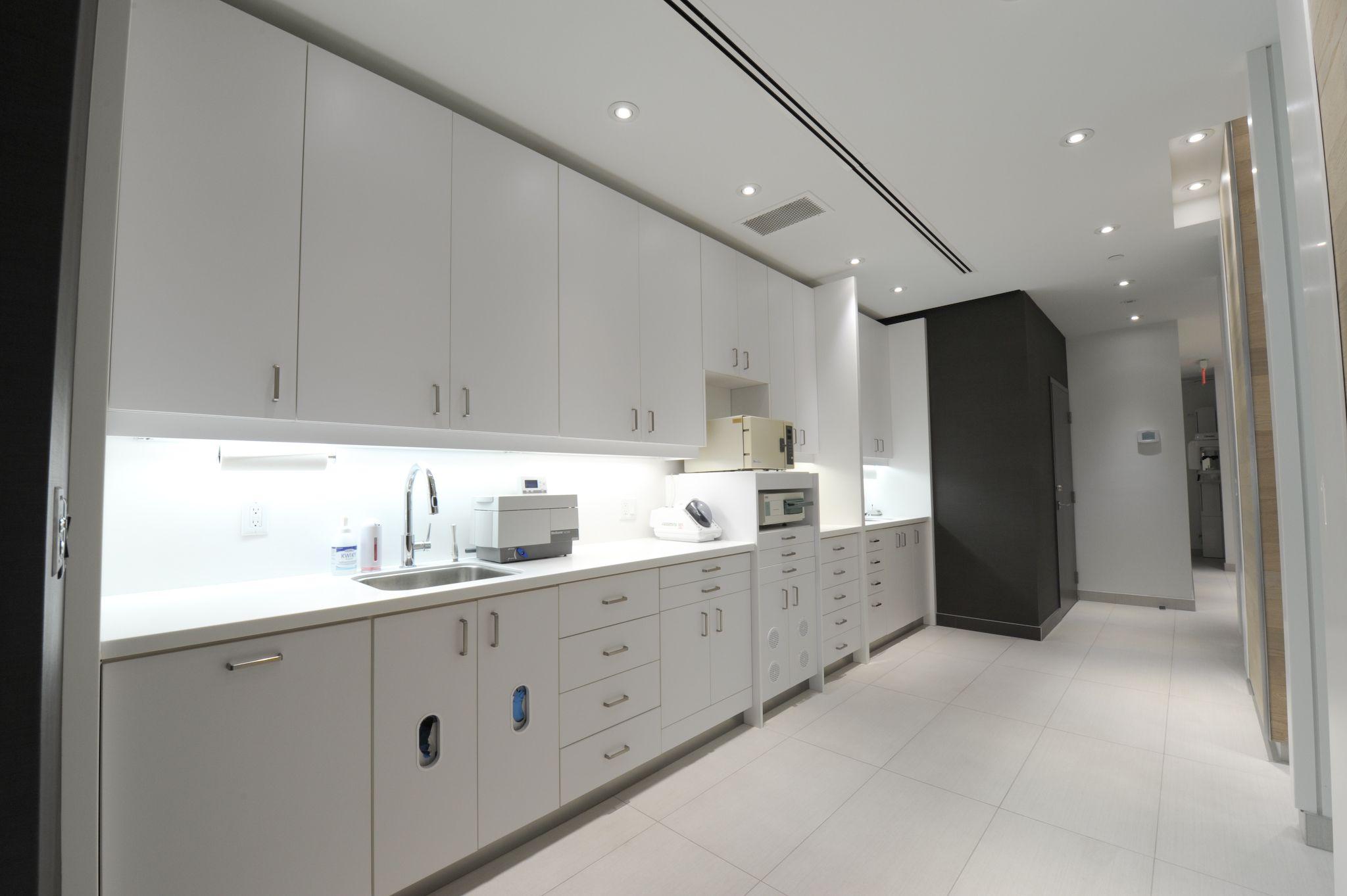 Sterilization area and lab