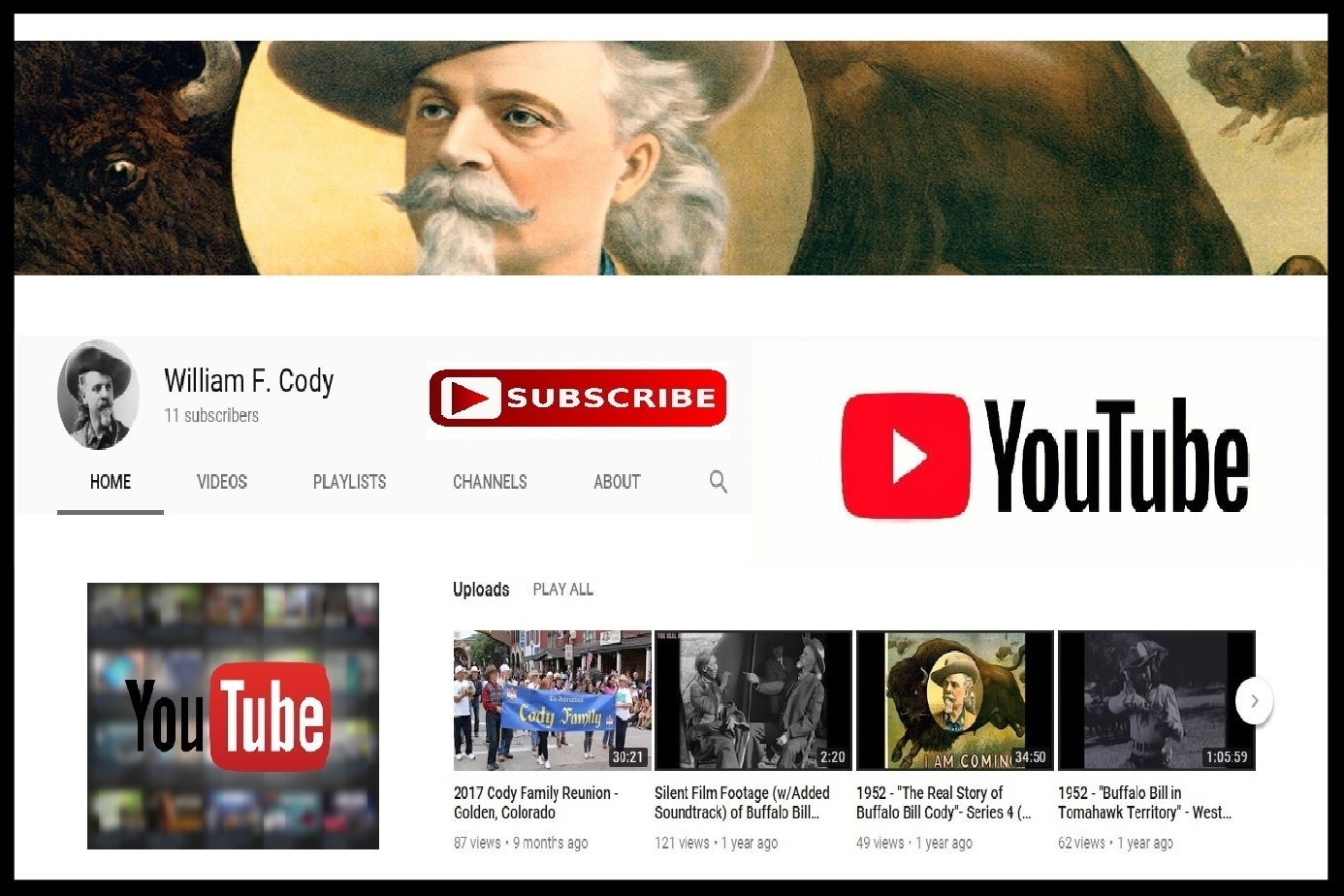 Buffalo Bill's YouTube Page