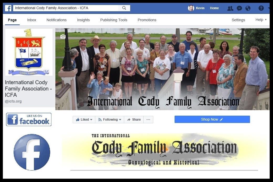 International Cody Family Association's Facebook Page