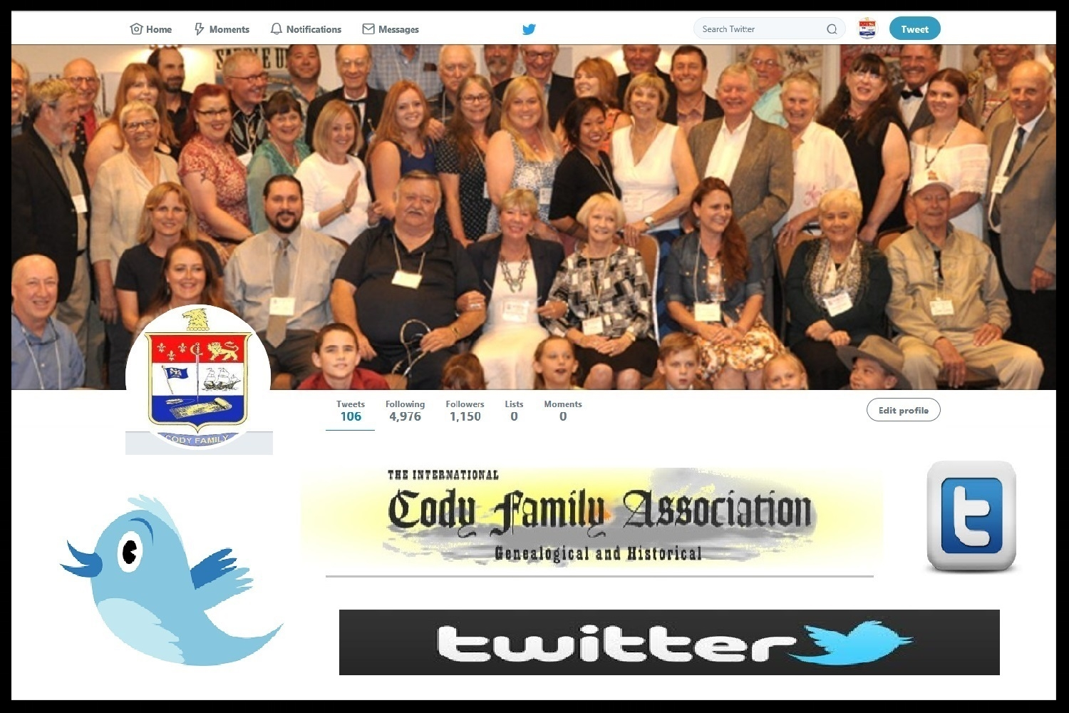 International Cody Family Association's Twitter Page