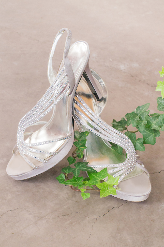Green Ivy & Sparkly Silver Shoes by Let There Be Light Photography