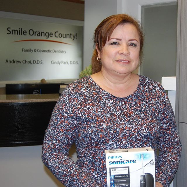 Here's our April raffle winner! Thank you for continued trust in our office!  #smileorangecounty #smile #ocdentist #cosmeticdentist #generaldentist #missionviejo #springcontest #winner #sonicare #andrewchoidds #cindyparkdds